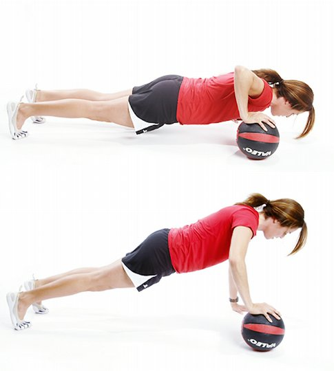 Single-Arm Medicine Ball Push-Up
