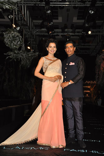 Kangana Ranaut with Manish Malhotra