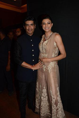 Manish Malhotra with Sushmita Sen