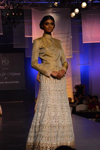 Model in Manish Malhotra's creation