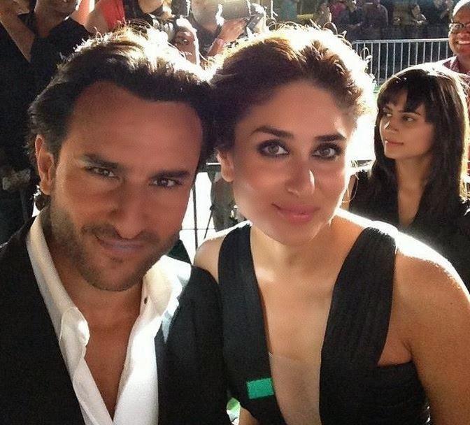 kareena and saif selfie at iifa