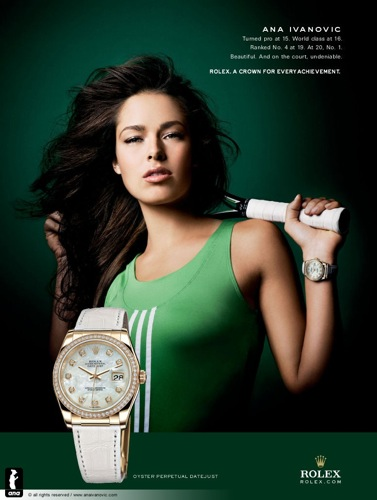 Ana Ivanovic's Choice in watches!