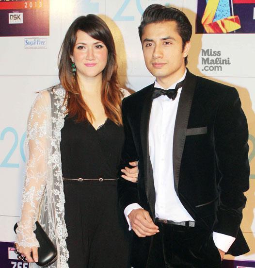 Ali-Zafar-and-wife-Ayesha-Fazli-at-Zee-Cine-Awards-2013-Picture01794645_20131902528