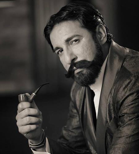 Wasim Akram desi Gentleman Nabila shoot