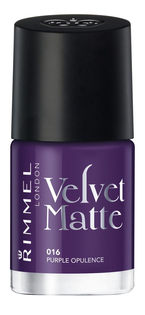 Rimmel - Velvet Matte Nail Polish - Purple Opulence #016 - AED26
