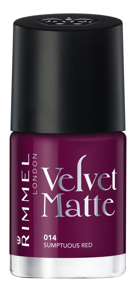Rimmel - Velvet Matte Nail Polish - Sumptuous Red #014 - AED26