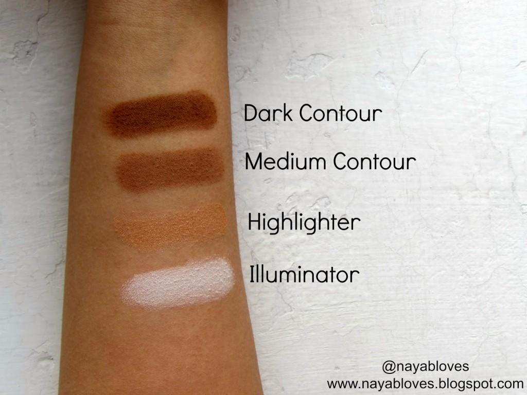 contour kit swatches 3 luscious cosmetics